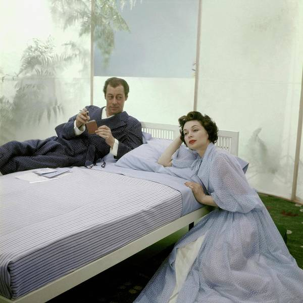 Dressing Photograph - Mr. And Mrs. Rex Harrison Photographed by Frances McLaughlin-Gill