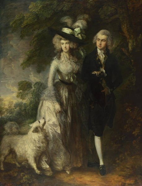 Thomas Gainsborough Wall Art - Painting - Mr And Mrs William Hallett. The Morning Walk by Thomas Gainsborough