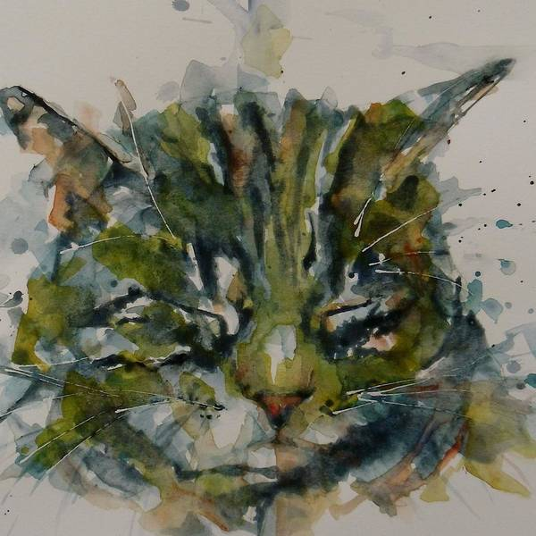 Kitten Wall Art - Painting - Mr Bojangles by Paul Lovering