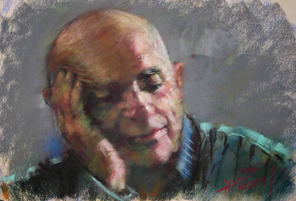 Pastel Portrait Wall Art - Pastel - Portrait by Ylli Haruni