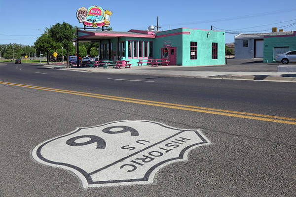 Photograph - Mr. Ds Diner Route 66 by Rainer Grosskopf
