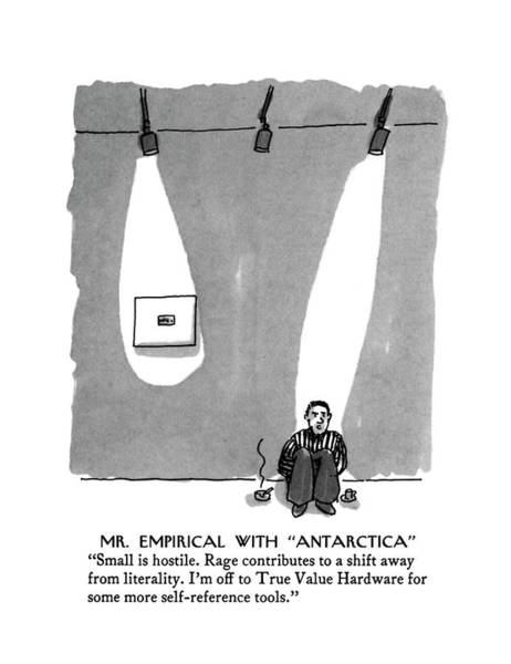 Michael Drawing - Mr. Empirical With Antarctica Small Is Hostile by Michael Crawford