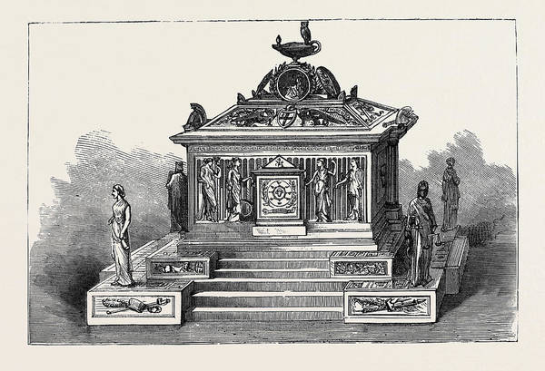 Gladstone Wall Art - Drawing - Mr. Gladstone And The City Of London Gold Casket by English School
