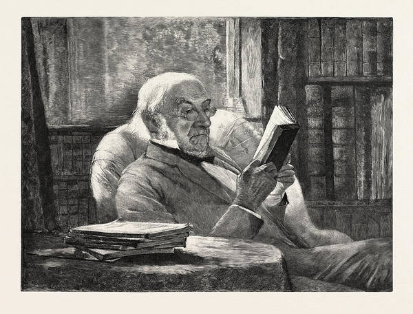Gladstone Wall Art - Drawing - Mr. Gladstone In His Study At Hawarden The New Canadian by Hamilton, John Mclure (1853-1936), American