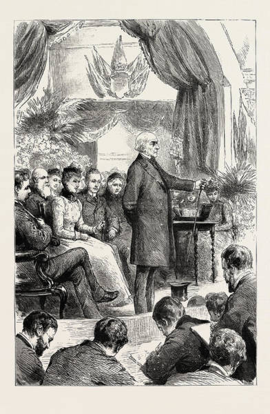 Gladstone Wall Art - Drawing - Mr. Gladstone Opening A New Hall At Port Sunlight by English School