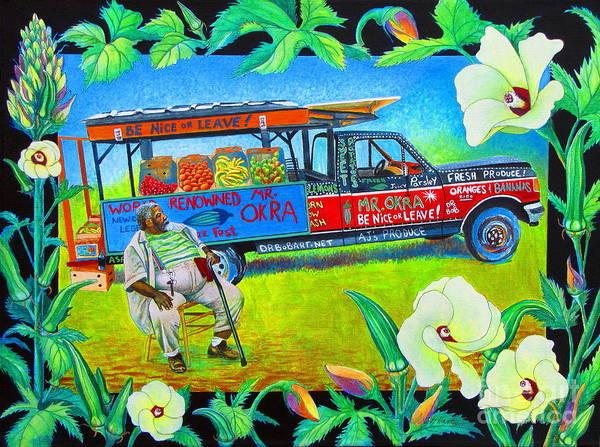 Truck Painting - Mr Okra by Pamela Iris Harden