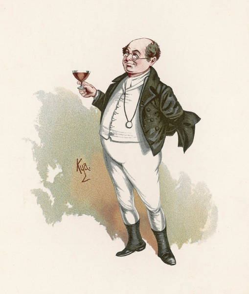 Wall Art - Drawing - Mr Pickwick Raises A Toast by Mary Evans Picture Library