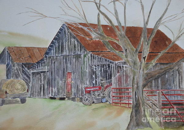 Painting - Mr. Posey's Barn by Peggy Dickerson