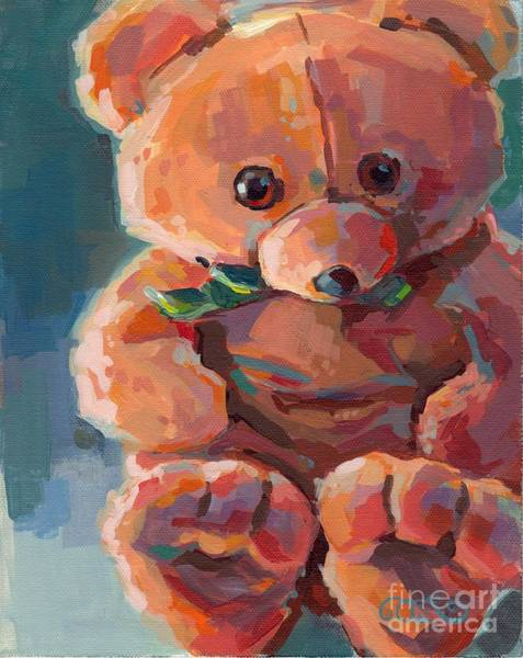 Teddy Bear Painting - Mr Snuggles by Kimberly Santini