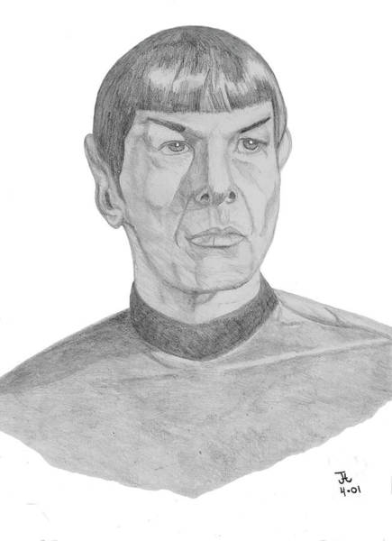 Digital Art - Mr. Spock by Thomas J Herring