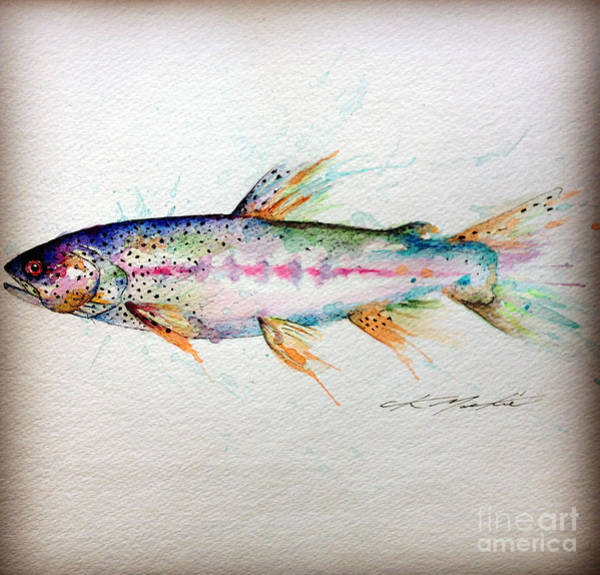 Painting - Mr Trout by CK Mackie