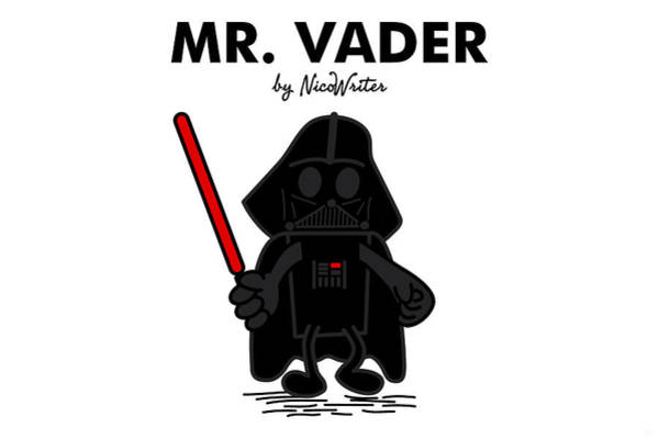 Movie Stars Wall Art - Digital Art - Mr Vader by NicoWriter