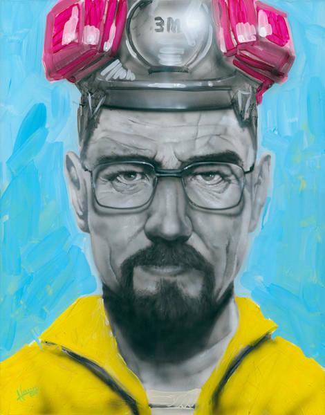 Bryan Painting - Mr. White by Luis  Navarro