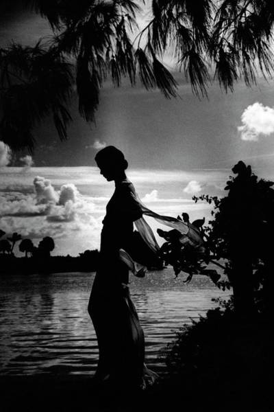 Water Photograph - Mrs Allan A Ryan Jr At Palm Beach by Toni Frissell