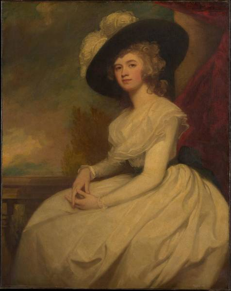 Romney Painting - Mrs. Bryan Cooke Frances Puleston by George Romney