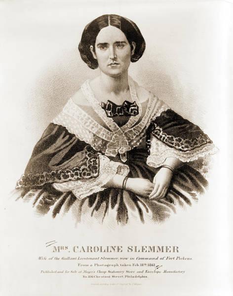 Feb Wall Art - Photograph - Mrs. Caroline Slemmer Wife Of The Gallant Lieutenant Slemmer by Litz Collection