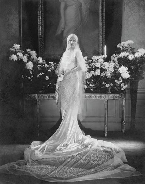 Babcock Photograph - Mrs. Charles Coudert Nast In Her Wedding Dress by Edward Steichen