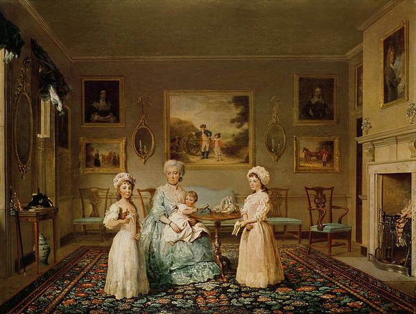 Conversation Photograph - Mrs Congreve And Her Children In Their London Drawing Room, 1782 Oil On Canvas by Philip Reinagle