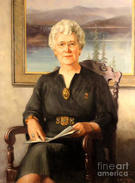 Painting - Mrs. Edwin N. Johnson 1941 by Art By Tolpo Collection