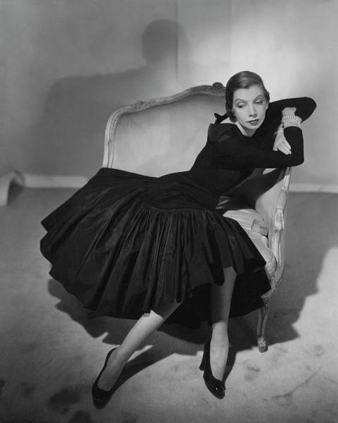 Celebrities Photograph - Mrs. Fairfax Potter Wearing A Taffeta Dress by Horst P. Horst