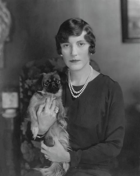 Pet Portraits Photograph - Mrs. Gordon Douglas With Her Pet Dog by Edward Steichen