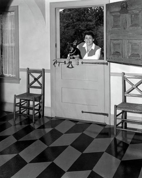 House Pet Photograph - Mrs. Henry Tomlinson Curtiss And Her Dog by George Platt Lynes