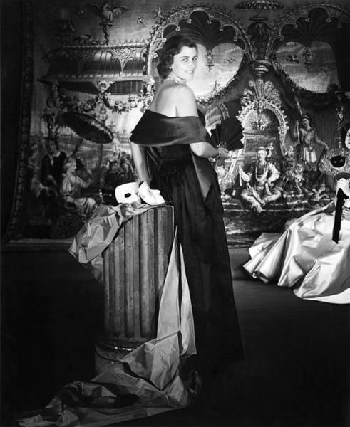 Wall Art - Photograph - Mrs. John T. Pratt Jr. Wearing A Satin Dress by Horst P. Horst