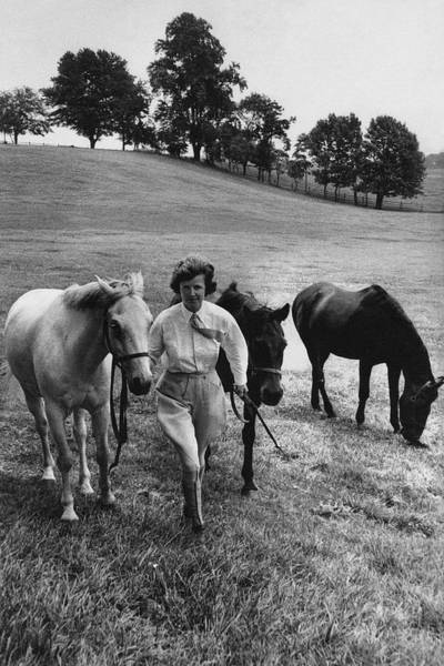 Mrs John West On Her Farm At Malvern Art Print by Toni Frissell