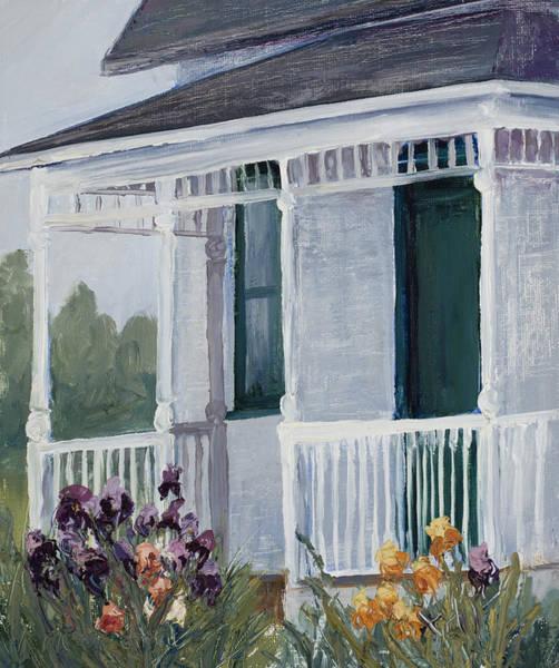 Painting - Mrs. Milner's Irises by Mary Giacomini