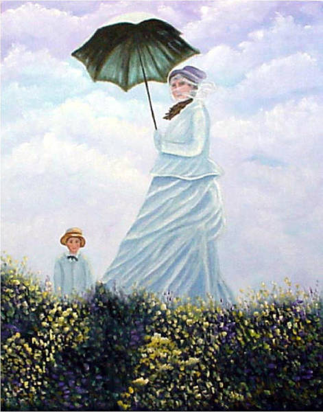 Painting - Mrs. Monet And Son by Fran Brooks