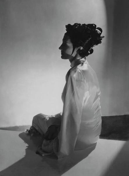 Profile Photograph - Mrs Reginald Fellowes Wearing Schiaparelli by Horst P. Horst
