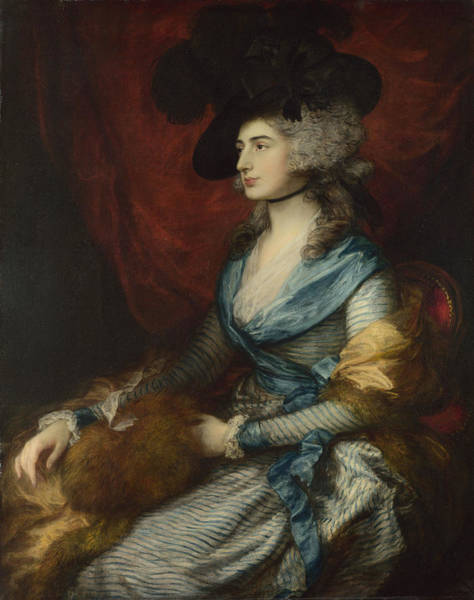 Thomas Gainsborough Wall Art - Painting - Mrs Siddons by Thomas Gainsborough