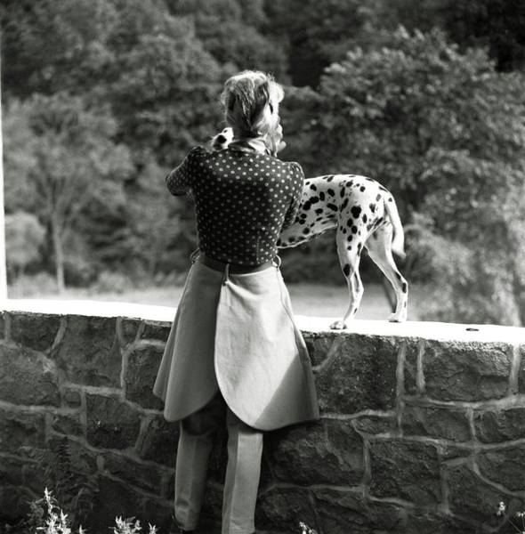 Groom Photograph - Mrs. William Phelps With Her Dalmatian by Frances McLaughlin-Gill