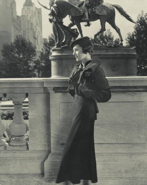 New York Landscape Photograph - Mrs. William Wetmore Wearing A Vionnet Cape by Edward Steichen