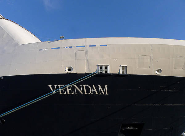 Holland America Line Wall Art - Photograph - Ms Veendam by Richard Reeve