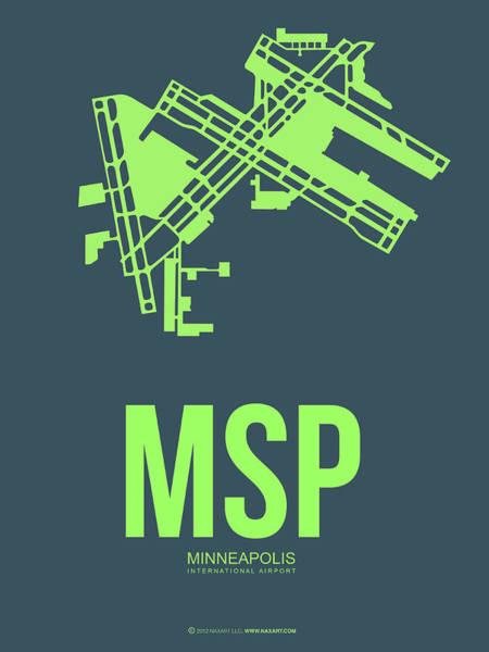 Msp Minneapolis Airport Poster 2 Art Print
