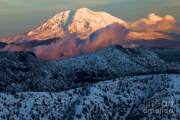 Photograph - Mt Adams Sunset by Adam Jewell