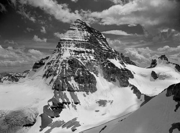 Photograph - 103457-bw-mt. Assiniboine 3 by Ed  Cooper Photography