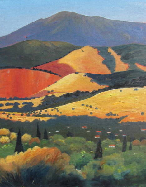 Rolling Hills Painting - Mt. Diablo 1 by Gary Coleman