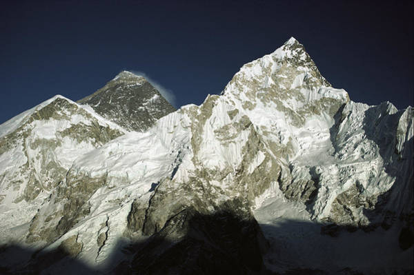 Photograph - Mt Everest And Mt Nuptse by Colin Monteath