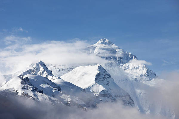 Beauty In Nature Photograph - Mt Everest, From Mt Everest Base Camp by Sean Caffrey