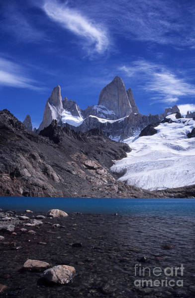 Photograph - Mt Fitzroy And Laguna De Los Tres by James Brunker