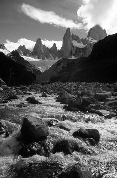 Photograph - Mt Fitzroy In Monochrome by James Brunker