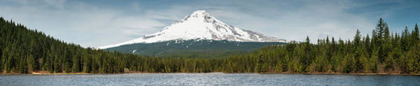 Oregon Ridge Photograph - Mt Hood 3429m Volcano Towering Over by Fotovoyager