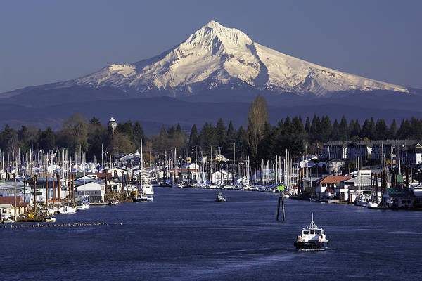 Portland Photograph - Hayden Island And Mt. Hood by Patrick Campbell