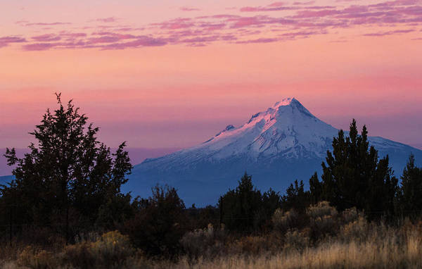 Mt Hood Photograph - Mt Hood At Sunset by Angie Vogel