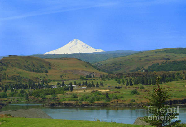 Rowena Photograph - Mt Hood From Across The Columbia by Charles Robinson