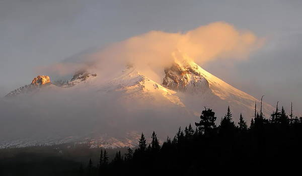 Mt Hood Photograph - Mt Hood Sunrise by Angie Vogel