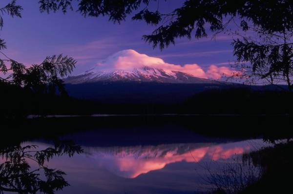 Photograph - Mt. Hood Sunrise by Ken Dietz