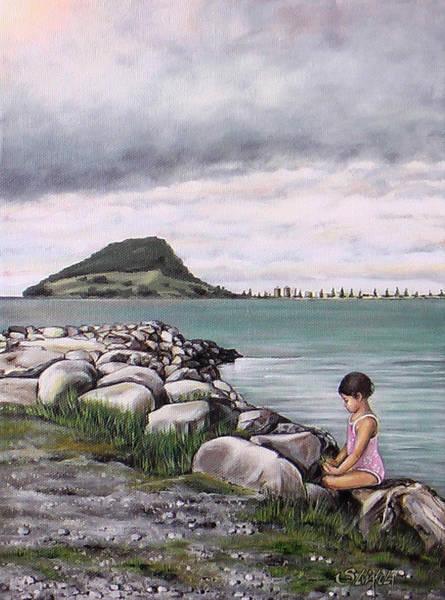 Painting - Mt Maunganui 140408 by Sylvia Kula
